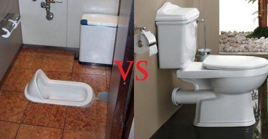 Toilet Duduk vs Toilet Jongkok