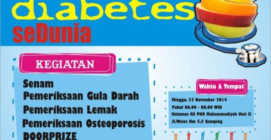 Senam Massal Gratis dalam Rangka Hari Diabetes SeDunia